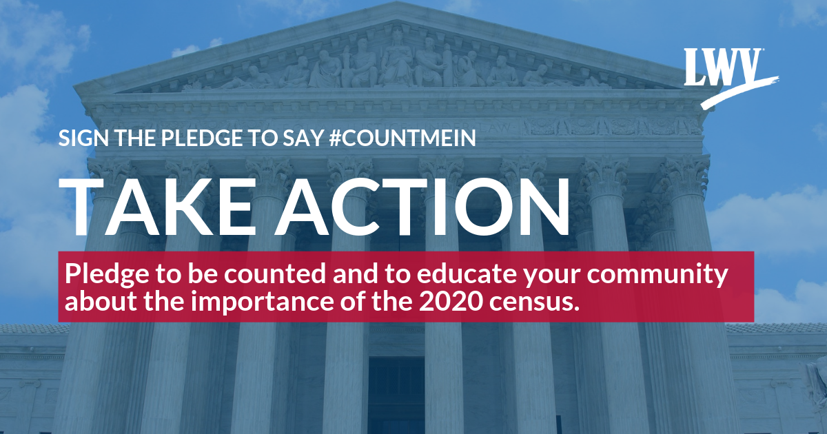 Sign the pledge to say #CountMeIn
