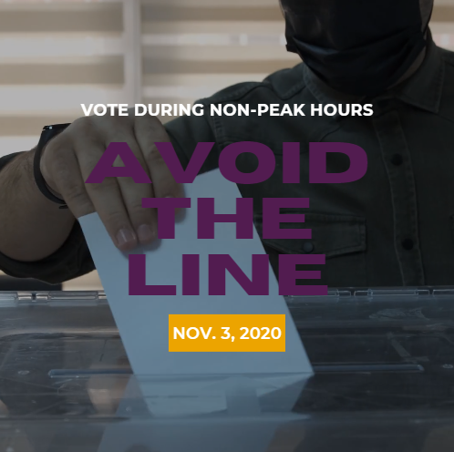 Vote during non-peak hours. Avoid the line.