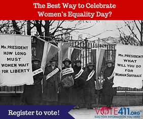 Register to Vote on Women's Equality Day