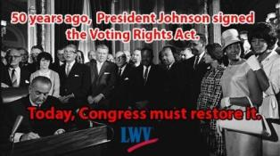 Tell Congress to restore the Voting Rights Act