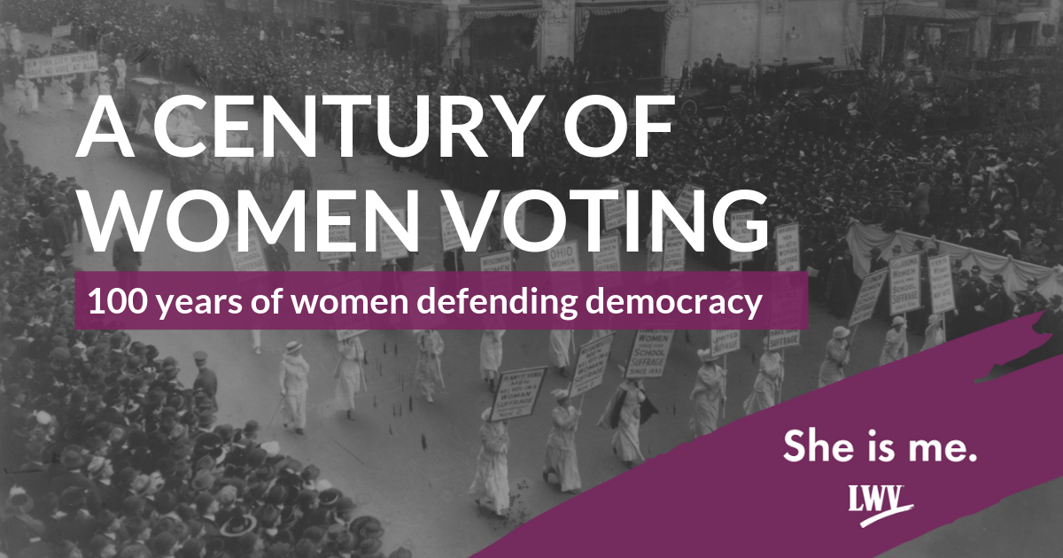 A century of women voting.