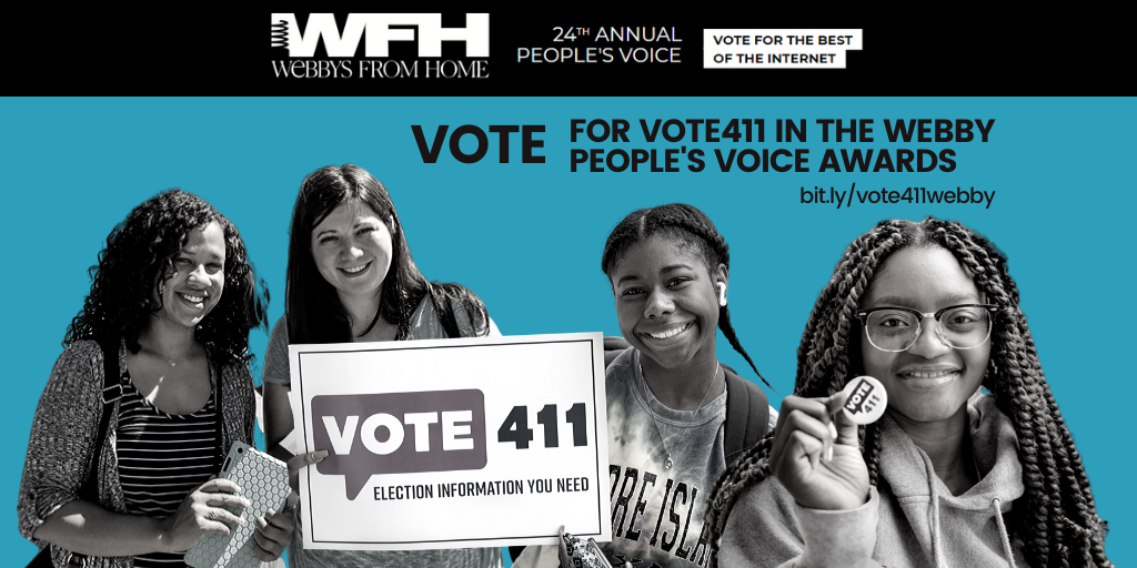 VOTE411 is up for a Webby!