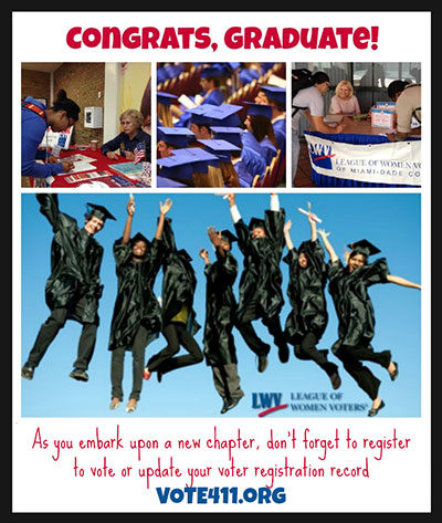 Ask the graduates you know to register to vote!
