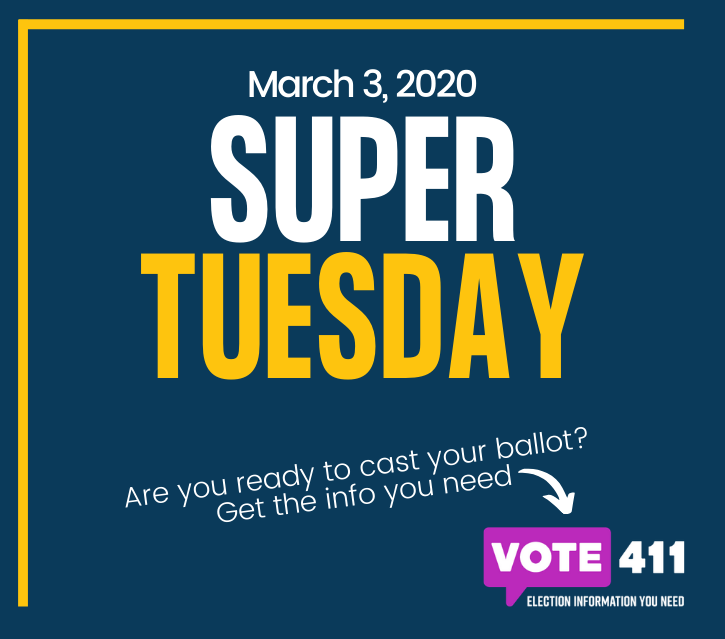 Today is Super Tuesday