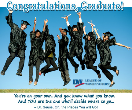 Congratulations, Graduate! Are you registered to vote?